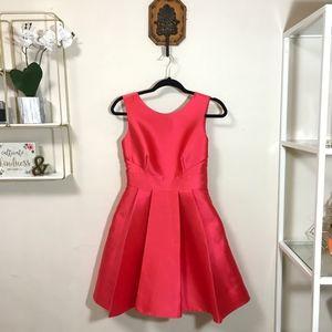 Kate Spade | Open Back Silk Mini Dress in Red